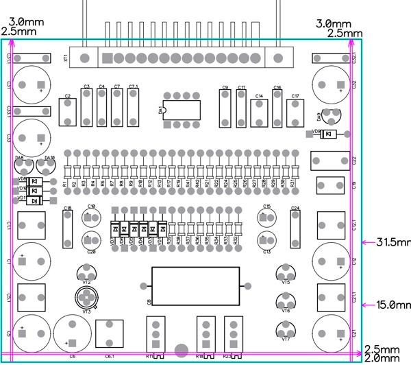 СШП Электроника-004. 11 плат