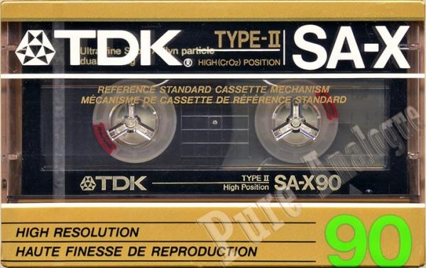 TDK SA-X (1987) US