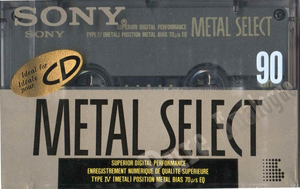 Sony Metal-S (1990) US Metal Select